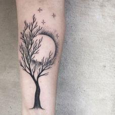 手臂小清新刺青图片