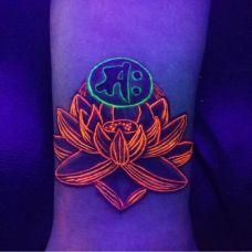 手腕经典个性夜光纹身图片