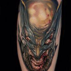暗黑个性恐怖元素手臂纹身