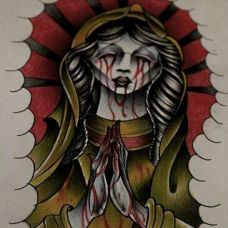 宗教修女纹身素材
