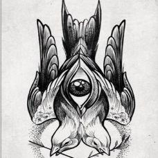 艺术抽象纹身素材