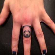 可爱手指动物头像纹身图案大全