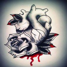 另类心脏纹身素材