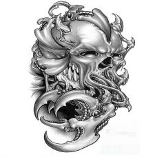 恐怖3d纹身手稿素材