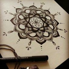 唯美幻像 迷之线条纹身图案