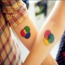 情侣手臂可爱纹身图案