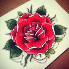 唯美手稿花蕊纹身图案欣赏