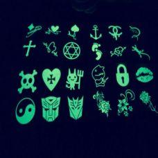 精致小巧的夜光纹身手稿图片大全