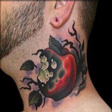 创意抽象颈部纹身