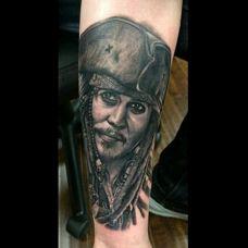 欧美影视人物头像纹身
