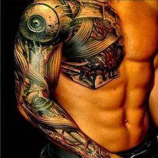 机械手臂男人纹身图案大全