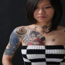 日本风格女妓经典纹身