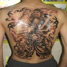 钟馗纹身图案 驱鬼除邪祟于民间