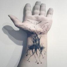 潮流男人手腕个性纹身