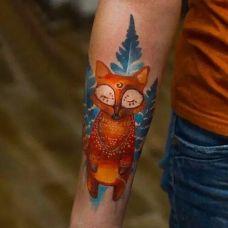 狐狸纹身图案大全图片