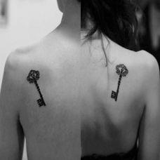个性情侣肩部纹身