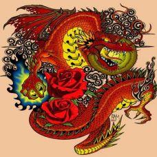 中国龙纹身素材 大气经典的纹身