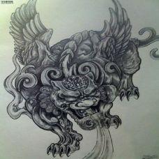经典神兽纹身图案