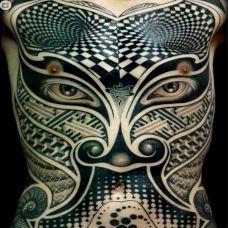 艺术满背刺青图案