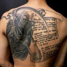 满背死神纹身图案大全
