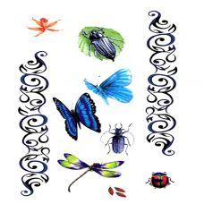 彩色昆虫纹身素材