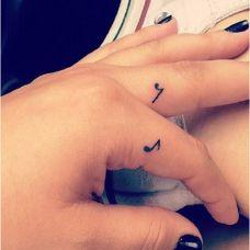 手指个性小图案纹身