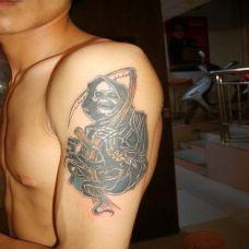 死神元素手臂纹身图案