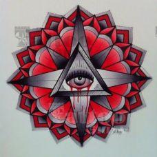 另类刺青花蕊恐怖手稿纹身图案