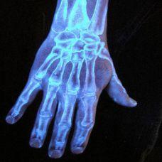 手部另类恐怖夜光刺青纹身图片