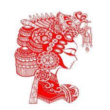 红色喜庆纹身手稿素材
