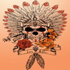 经典骷髅纹身素材