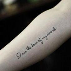适合男女胳膊唯美拉丁文纹身图案