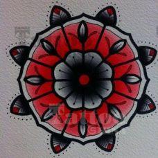 黑色手稿刺青花蕊图案欣赏