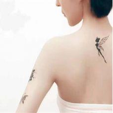 小精灵背部纹身图案大全