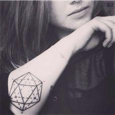 手臂小清新的纹身图案