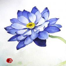 唯美艺术花蕊纹身彩绘图案欣赏