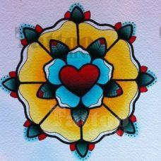 好看的艺术花蕊手稿纹身图片