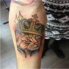 个性可爱猫咪纹身