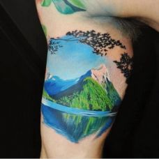 新西兰米特峰手臂纹身