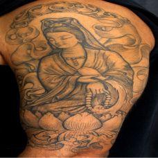 帅哥手臂观音纹身图案