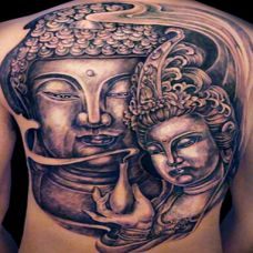 满背神话信仰佛祖纹身