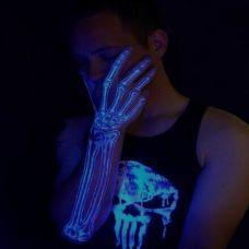 人体手部超酷潮流夜光纹身图片