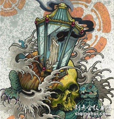 前卫灯塔艺术纹身手稿