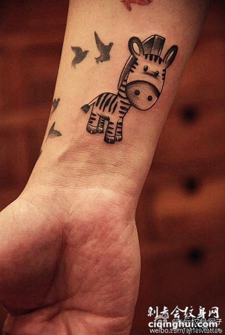 简单手臂可爱动物纹身