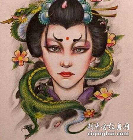 日本经典纹身手稿素材