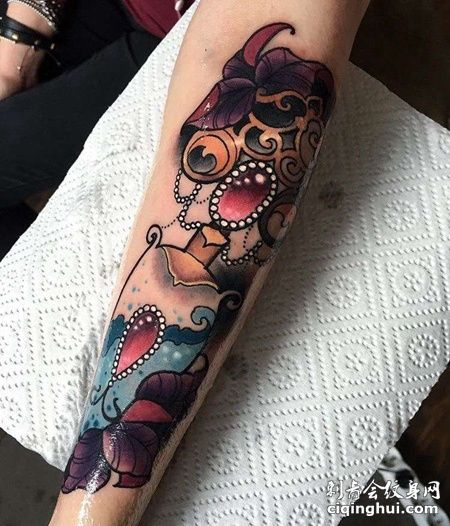 New School小臂纹身图案