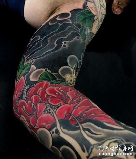 新传统胳膊纹身图案