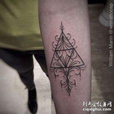 几何小臂纹身图案