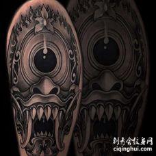 New School大腿纹身图案