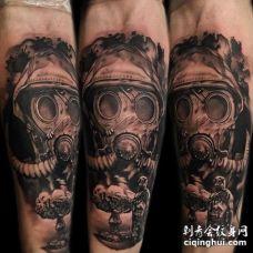 写实小臂战士纹身图案